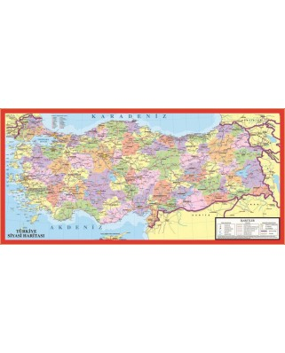 Puzzle Art Puzzle - The Political Map of Turkey, 123 piese (Art-Puzzle-4346)