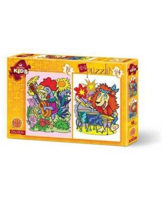 Puzzle Art Puzzle - Musician Animals, 12/24 piese (Art-Puzzle-4490)