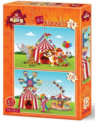 Puzzle Art Puzzle - The Circus and The Fun Fair, 24/35 piese (Art-Puzzle-4491)