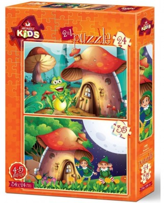 Puzzle Art Puzzle - The Mushroom House, 24/35 piese (Art-Puzzle-4493)
