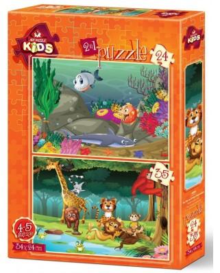 Puzzle Art Puzzle - Wildlife, 24/35 piese (Art-Puzzle-4494)