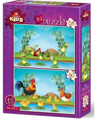 Puzzle Art Puzzle - Animals and Babies, 35/60 piese (Art-Puzzle-4496)