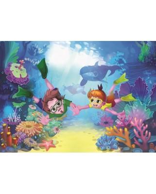 Puzzle Art Puzzle - The Diver Kids, 50 piese XXL (Art-Puzzle-4499)