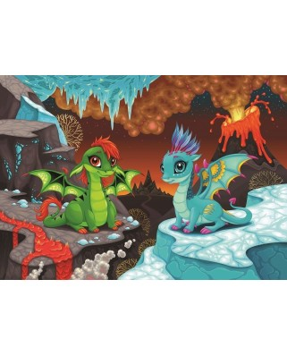 Puzzle Art Puzzle - Baby Dragons, 100 piese (Art-Puzzle-4509)