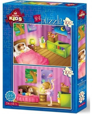 Puzzle Art Puzzle - Kids, 2x100 piese (Art-Puzzle-4518)