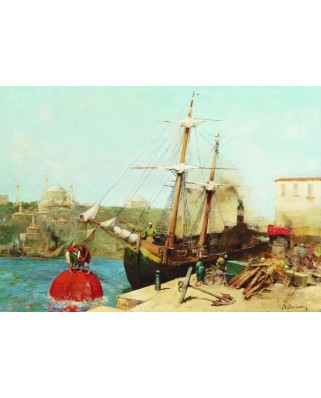 Puzzle Gold Puzzle - Alberto Pasini: By the Golden Horn, 1000 piese (Gold-Puzzle-60751)