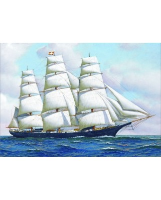 Puzzle Gold Puzzle - Antonio Jacobsen: Clipper Ship, 1.000 piese (Gold-Puzzle-60775)
