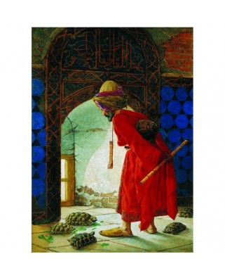 Puzzle Gold Puzzle - Osman Hamdi Bey: The Turtle Trainer, 1.000 piese (Gold-Puzzle-60966)