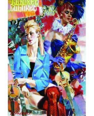Puzzle Gold Puzzle - Cabaret, 1.000 piese (Gold-Puzzle-61109)