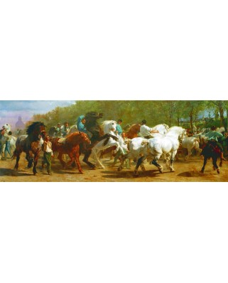 Puzzle panoramic Gold Puzzle - The Horse Fair, 1.000 piese (Gold-Puzzle-61130)