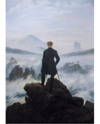 Puzzle Grafika Kids - Caspar David Friedrich: The Hiker Over the Sea of Fog, 1818, 24 piese (Grafika-Kids-02116)