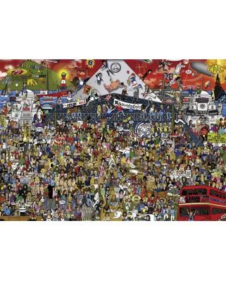 Puzzle Heye - Alex Bennett: British Music History, 2.000 piese (29848)