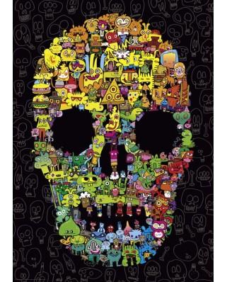 Puzzle Heye - Jon Burgerman: Doodle Skull, 1.000 piese (29850)