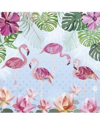 Puzzle Heye - Turnowsky: Flamingos & Lilies, 1.000 piese (29852)