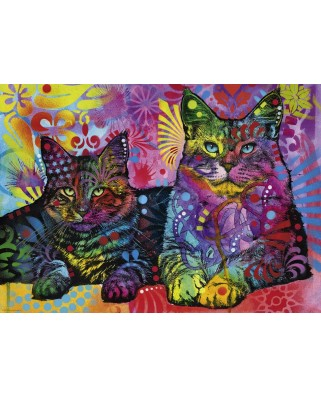 Puzzle Heye - Dean Russo: Devoted 2 Cats, 1.000 piese (29864)