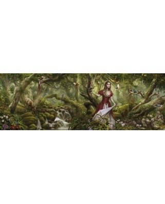 Puzzle panoramic Heye - Cris Ortega: Forest Song, 1.000 piese (29869)