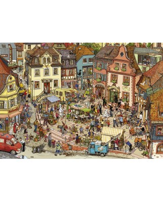 Puzzle Heye - Doro Gobel & Peter Knorr: Market Place, 1.000 piese (29884)