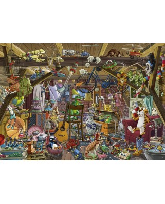 Puzzle Heye - Birgit Tanck: In The Attic, 1.000 piese (29885)