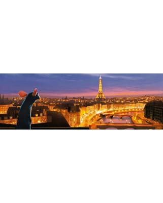 Puzzle panoramic Clementoni - Ratatouille, 1.000 piese (39487)