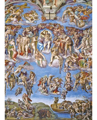 Puzzle Clementoni - Michelangelo Buonarroti: The last Judgement, 1.000 piese (39497)