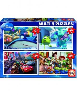 Puzzle Educa - Pixar, 50/80/150 piese (15615)