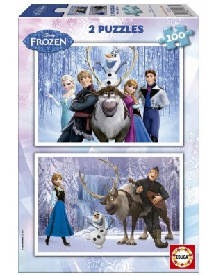 Puzzle Educa - Frozen, 2x100 piese (15767)