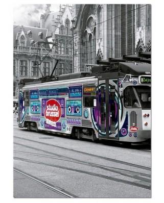 Puzzle Educa - Tram in Gent, Belgien, 500 piese (16358)