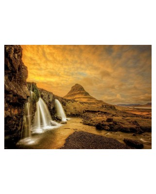 Puzzle Educa - Kirkjufellsfoss Waterfall, Iceland, 1.000 piese (17971)