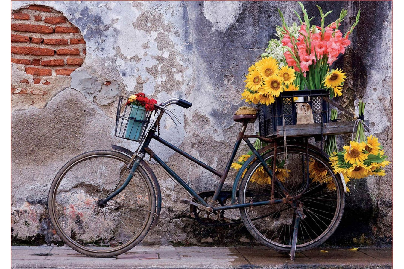 Puzzle Educa - Bicycle with flowers, 500 piese (17988)