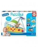 Puzzle Educa - 5 Baby Puzzles, 3/4/5 piese (18059)