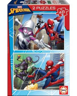 Puzzle Educa - Spider-Man, 2x48 piese (18099)