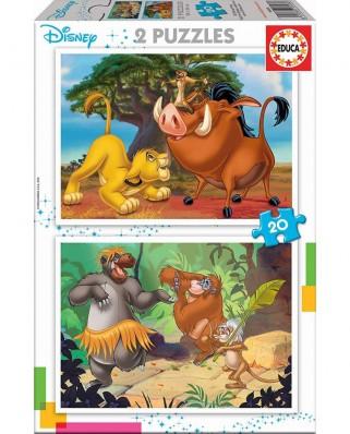 Puzzle Educa - Disney, 2x20 piese (18103)