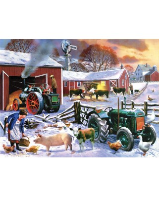 Puzzle SunsOut - Kevin Walsh: Wintertime Farm, 1.000 piese (Sunsout-13820)