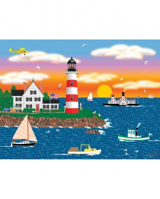 Puzzle SunsOut - Mark Frost: Triangle Point Lighthouse, 1.000 piese (Sunsout-22619)