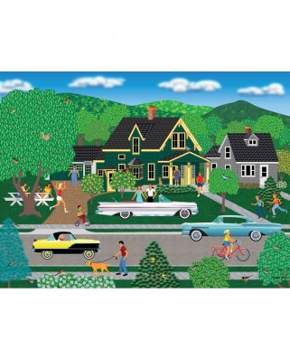 Puzzle SunsOut - Mark Frost: Nellie's New Car, 1.000 piese (Sunsout-22636)