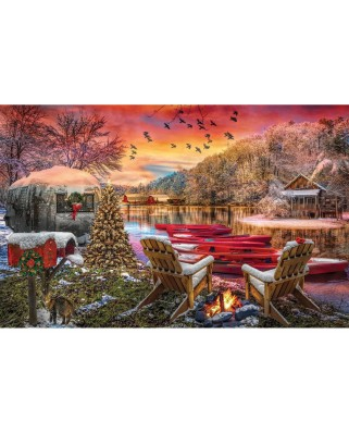 Puzzle SunsOut - Christmas Eve Camping, 1.000 piese (Sunsout-30141)