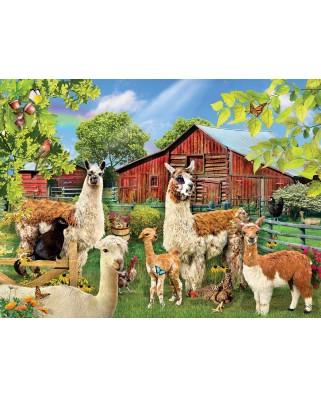 Puzzle SunsOut - Lori Schory: Six Llamas, 1.000 piese (Sunsout-35032)