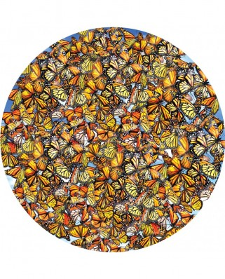 Puzzle rotund SunsOut - Lori Schory: Monarch Frenzy, 1.000 piese (Sunsout-35047)