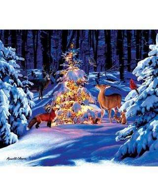 Puzzle din lemn SunsOut - Russell Cobane: Woodland Glow, 550 piese (Sunsout-36686)