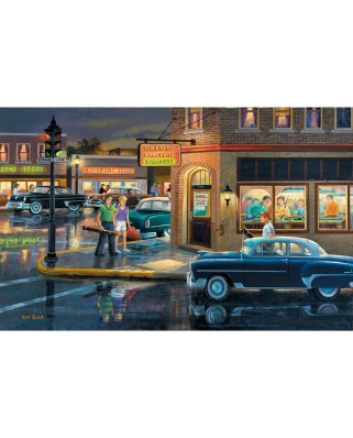 Puzzle SunsOut - Ken Zylla: Small Town Saturday Night, 550 piese (Sunsout-37767)