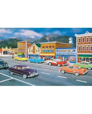 Puzzle SunsOut - Ken Zylla: Main Street of Memories, 550 piese (Sunsout-37770)