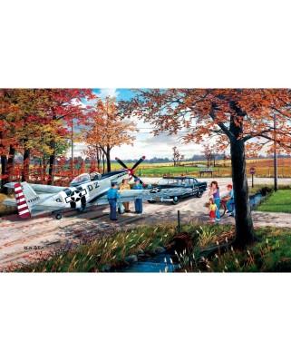 Puzzle SunsOut - Ken Zylla: Emergency Landing, 550 piese (Sunsout-39336)