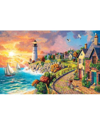 Puzzle SunsOut - Lighthouse by the Sea, 550 piese (Sunsout-42952)