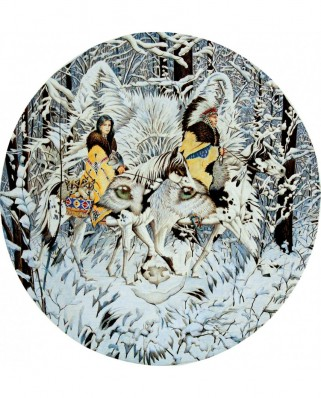 Puzzle rotund SunsOut - Diana Casey: Keeper of the Wolf, 1.000 piese (Sunsout-43001)
