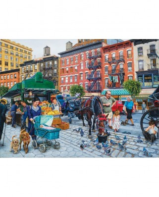 Puzzle SunsOut - Susan Brabeau: The Streets of New York, 1.000 piese (Sunsout-44235)