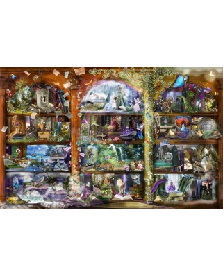 Puzzle SunsOut - Alixandra Mullins: Enchanted Fairytale Library, 1.000 piese (Sunsout-48448)