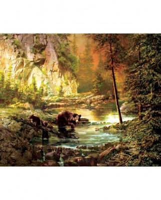 Puzzle SunsOut - Roberta Wesley: Bearly Daylight, 1.000 piese (Sunsout-51050)