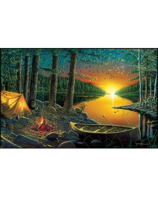 Puzzle SunsOut - Ervin Molnar: Evening by the Lake, 550 piese (Sunsout-51844)