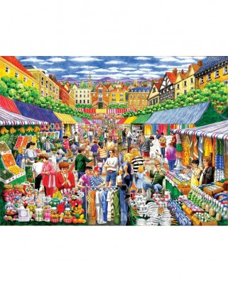 Puzzle SunsOut - Gale Pitt: A Day at the Marketplace, 1.000 piese (Sunsout-52415)