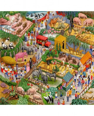 Puzzle SunsOut - Gale Pitt: A Crazy Zoo, 1.000 piese (Sunsout-52437)